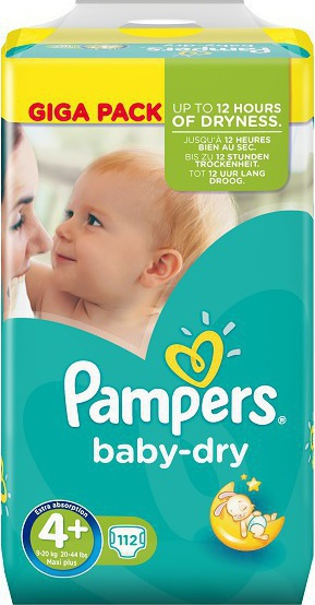 Προσθήκη στα αγαπημένα menu Pampers Baby Dry Giga Pack No 4+ (9-20Kg) 112τμχ df7c2119477