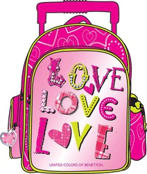 Benetton Trolley Love Love 34116 Pink