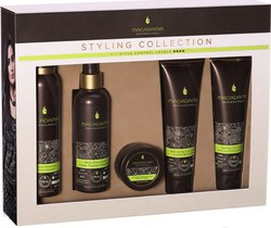 Macadamia Styling Collection Kit Foaming Volumizer 171gr & Blow Dry Lotion 198ml & Activating Curl Cream 148ml & Taming Curl Cream 148ml & Whipped Detailing Cream 57gr
