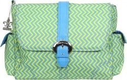 Kalencom Buckle Bag - Matte Coated Wiggly Stripes Beach