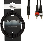 Alpha Audio Audio Cable 3.5mm male - 2 x RCA male 1.5m (190160)