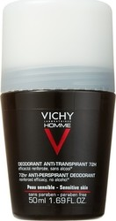 Vichy Homme Deodorant Anti-Transpirant Roll-On 72h 50ml