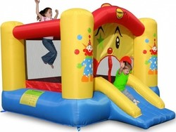 Happy Hop Clown Slide and Hoop Bouncer