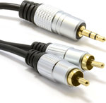 OEM Audio Cable 3.5mm male - 2 x RCA male 1.5m (RC051)