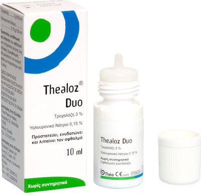 Thea Pharma Hellas Thealoz Duo Οφθαλμικές Σταγόνες με Υαλουρονικό Οξύ για Ξηροφθαλμία 10ml