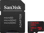 Sandisk Ultra microSDXC 128GB U1 80MB/s with Adapter