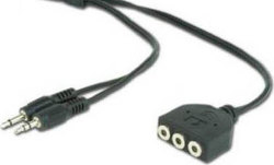 Cablexpert Cable 2 x 3.5mm male - 3 x 3.5mm female 1m (CC-MIC-1)
