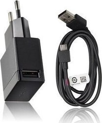 Sony micro USB Cable & Wall Adapter Μαύρο (EP880 & EC450)