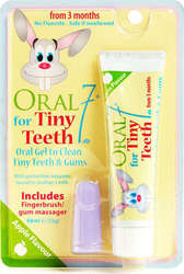 Oral7 Tiny Teeth Finger Brush Babies with Toothpaste