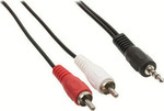 Valueline Cable 3.5mm male - 2 x RCA male 0.5m (VLAP22200B0.50)