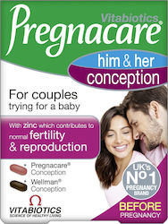 Vitabiotics Pregnacare His & Her Conception Dual Pack 2 x 30 ταμπλέτες