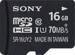 Sony SRUY2A microSDHC 16GB Class 10 U1 with Adapter
