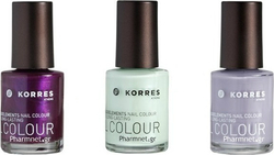 Korres Set 072 Spring Lilac & 079 Metallic Purple & 035 Pastel Mint