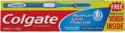 Colgate Maximum Cavity Protection 100ml + Toothbrush