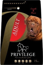 Privilege Adult Large Breeds Lamb & Rice 15kg