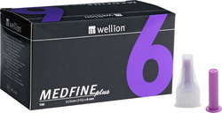 Wellion Medfine Plus 6mm 100τμχ