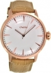 Oxette Rose Gold Brown Leather Strap 11X65-00138