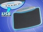 OEM Mousepad with 4 port USB 2.0 hub Blue Led