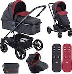 Lorelli Bertoni S500 Combi Set 3 in 1 Black & Red