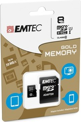 Emtec Gold microSDHC 8GB U1 with Adapter