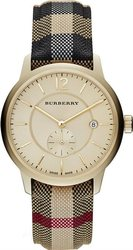 Burberry Round Multicolor Leather & Fabric Strap BU10001