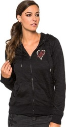 METAL MULISHA SPADE BURNOUT ZIP FLEECE BLACK