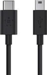 Belkin Regular USB 2.0 Cable USB-C male - mini USB-B male Μαύρο 1.8m (F2CU034BT06-BLK)