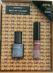 Korres Set Candy Glow Lipgloss 25 Cherry & Nail Color 70 Dreamy Grey