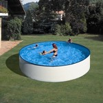 Gre Steel Wall White Pool Round 450x90cm
