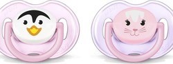 Philips Avent Animal Pacifiers 0-6m SCF182/23 Ροζ 2τμχ.