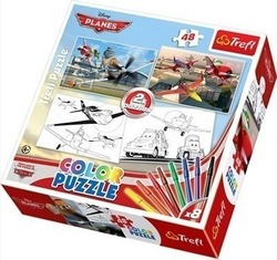 Color Puzzles: Planes 2x48pcs (36510) Trefl