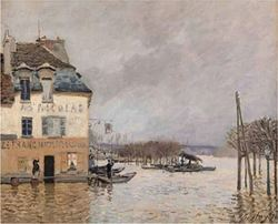 Sisley: Le Barque Pendant l'Inondation à Port-marly 2000pcs (16167) Ricordi