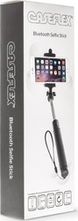 Caseflex Bluetooth Selfie Stick Built In Remote Blue Z033