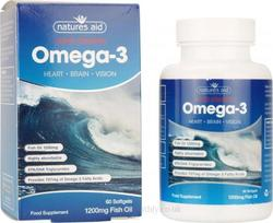 Natures Aid Super Strength Omega 3 1200mg 60 μαλακές κάψουλες