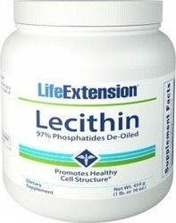 Life Extension Lecithin 97% Phosphatides De-oiled 454gr