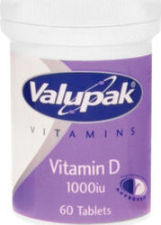 Valupak Vitamin D3 1000iu 60 ταμπλέτες