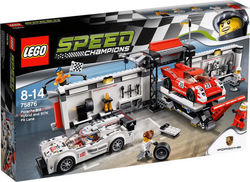 Lego Porsche 919 Hybrid and 917K Pit Lane 75876