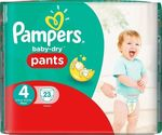 Pampers Baby Dry Pants No 4 (8-15kg) 23τμχ