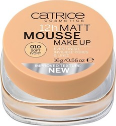 Catrice Cosmetics 12h Matt Mousse Make Up 010 Soft Ivory 16gr