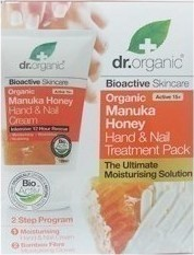 Dr.Organic Manuka Honey Honey Hand and Nail Cream Treatment Pack with Moisturizing Gloves 125ml