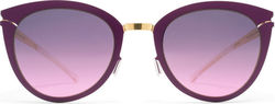 Mykita Decades Sun Priscilla Gold/Purple Violet