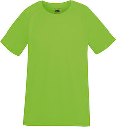 Kids Performance T Fruit of the Loom 61-013-0 - Lime Green