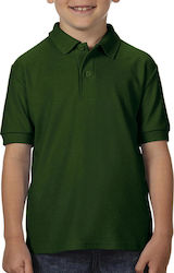 DryBlend Youth Double Pique Polo Gildan 72800B - Forest Green