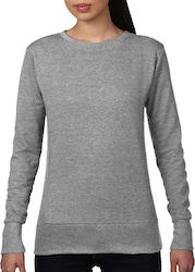 Womens French Terry Sweatshirt Anvil 72000L - Heather Grey