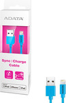 Adata USB to Lightning Cable Blue 1m (AMFIPL-100CM-CBL)