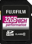 Fujifilm High Performance SDHC 32GB Class 10