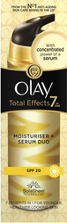 Olay Total Effects 7in1 Moisturiser Serum Duo SPF15 40ml