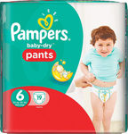 Pampers Baby Dry Pants No 6 (16+kg) 19τμχ