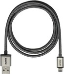 Acme Braided USB 2.0 to micro USB Cable Silver 1m (CB02)
