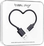 Happy Plugs USB 2.0 to micro USB Cable Black 2m (7350063032184)